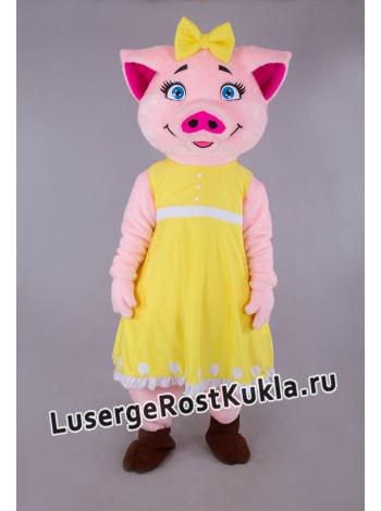"""Ростовая кукла """"Свинка в платье"""""""