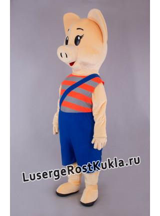 """Ростовая кукла """"Свинка в синих шортах"""""""