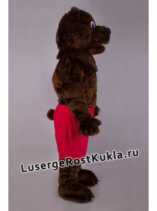 """Ростовая кукла """"Медведь бурый в красных шортах"""""""